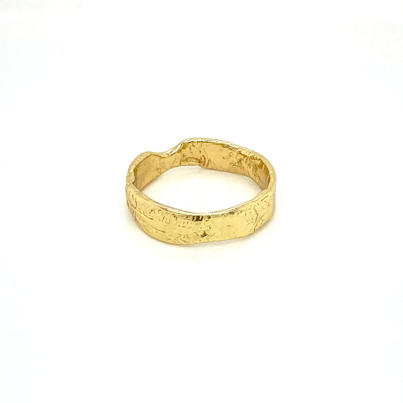 Gold Plated Melt Ring