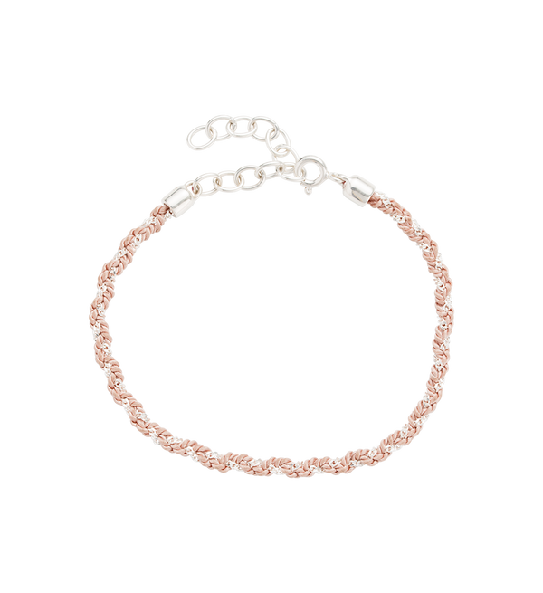 Little Kirstin Ash Blush Woven Bracelet