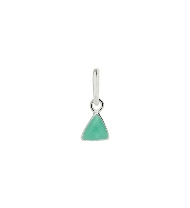 Little Kirstin Ash Mint Triangle Charm