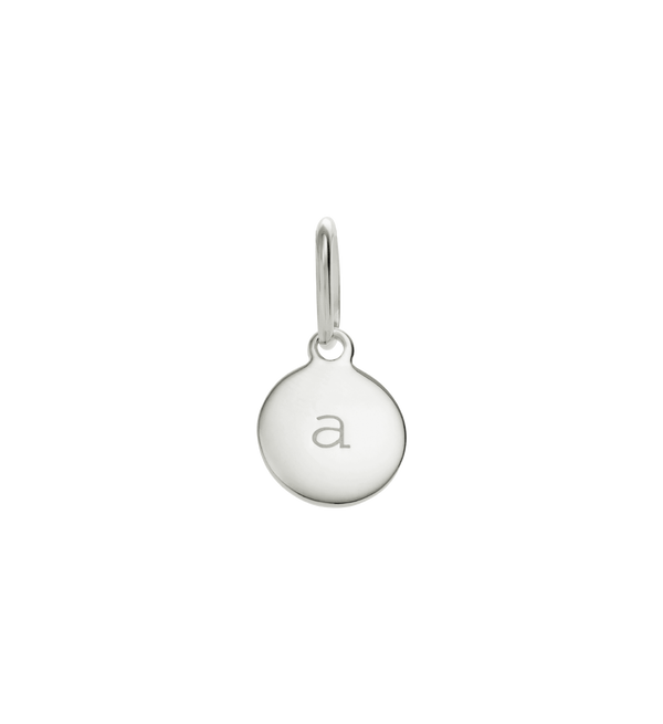Little Kirstin Ash A-Z Circle Initial- Sterling Silver
