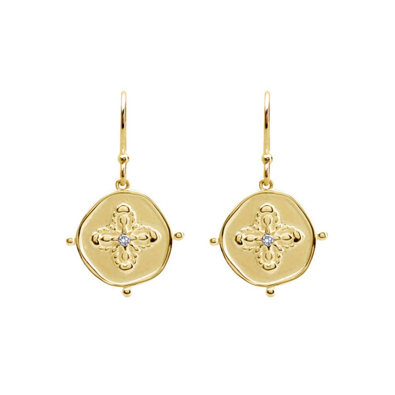 Murkani Sahara Small Earrings in 18KT Yellow Gold Plate