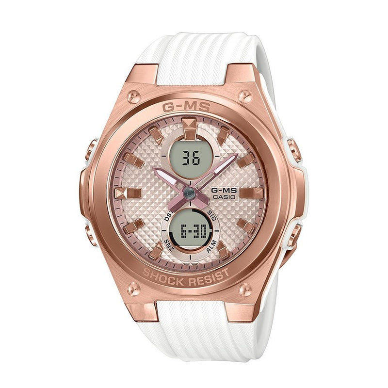 Baby-G Rose Gold and White G-MS