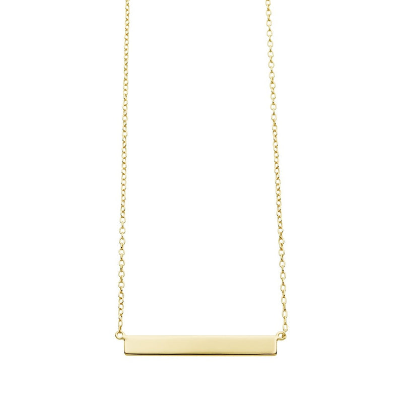 Yellow Gold Plated Bar Necklace