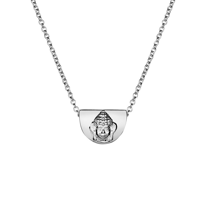 Sterling Silver Budha Necklace