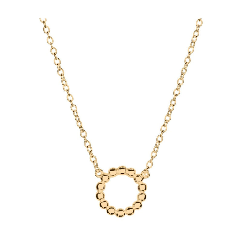 Yellow Gold Plated Circle Necklace
