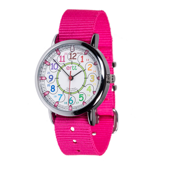 Easy Read Pink and Rainbow Standard Watch