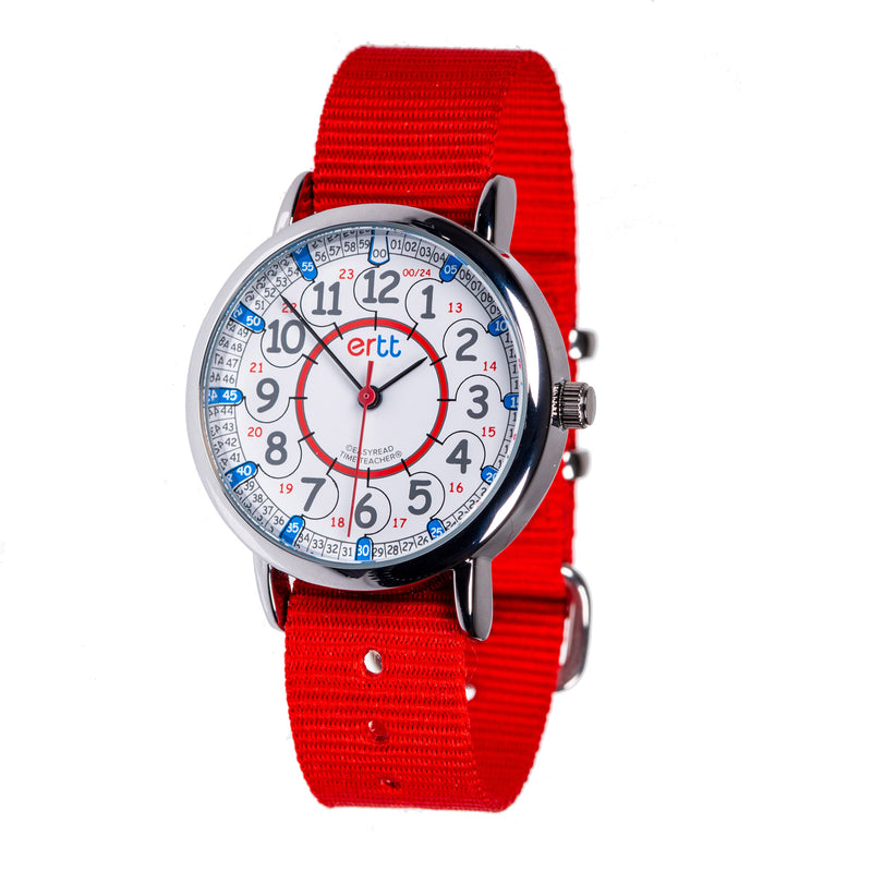 Easy Read Red and Blue Standard Watch