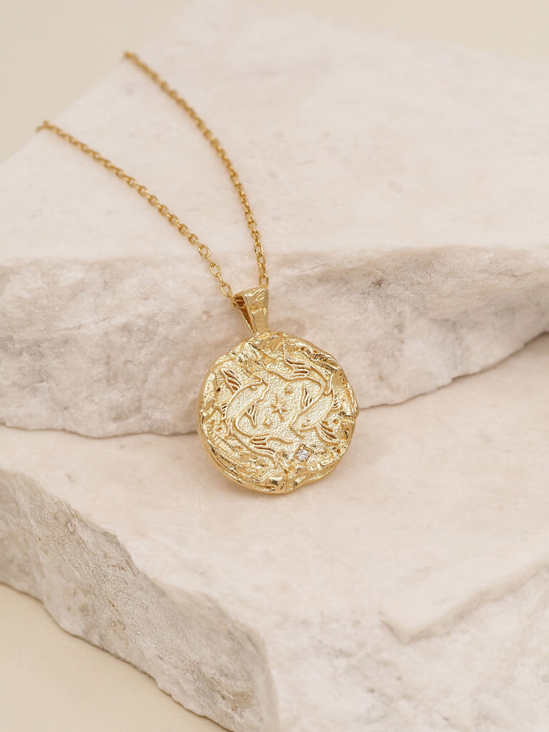 By Charlotte Pisces Zodiac Necklace
