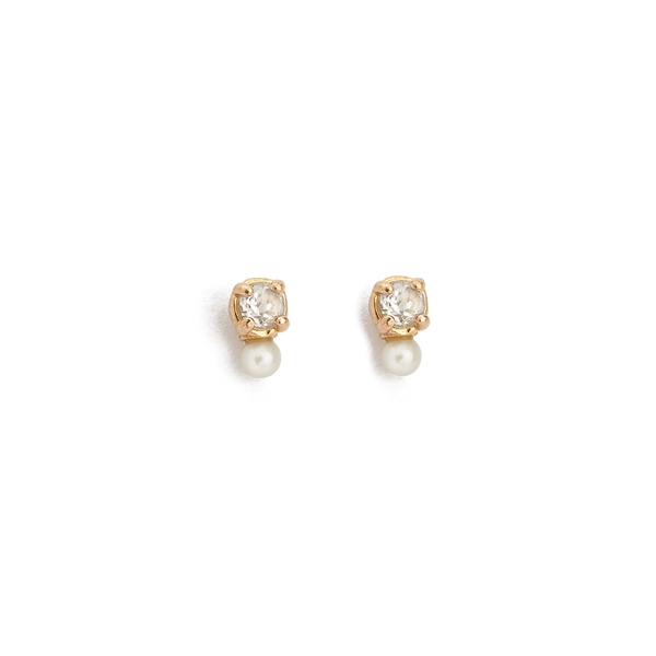 Kirstin Ash First Light Studs- 9k Gold