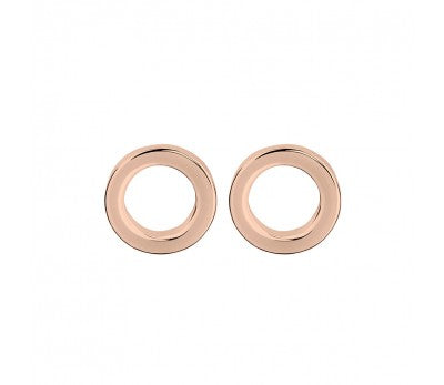 Rose Gold Plated Open Circle Stud Earrings