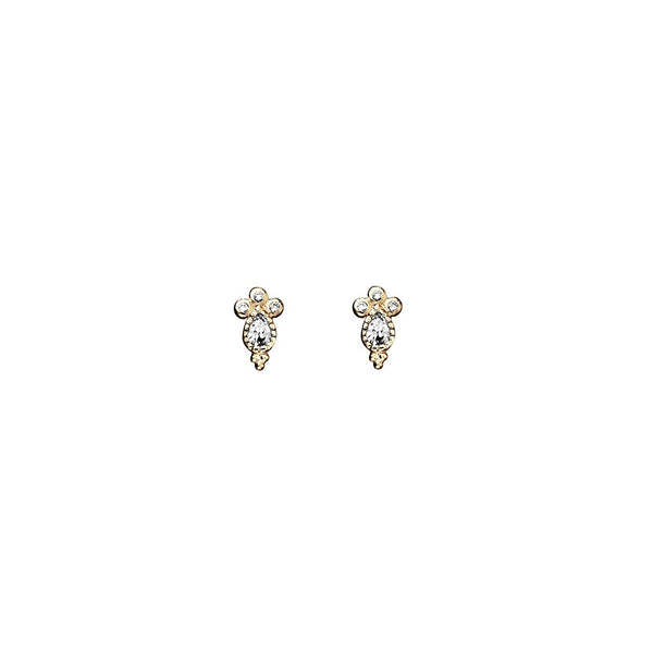 Yellow Gold Plated Delicate Stud Earrings