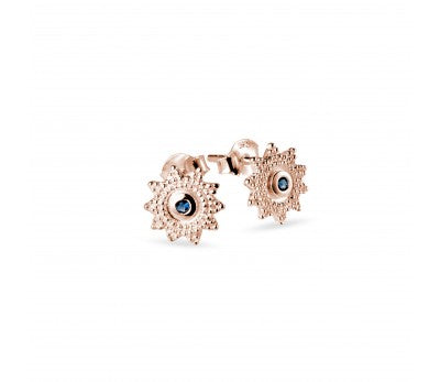 Rose Gold Plated Floral Stud Earrings