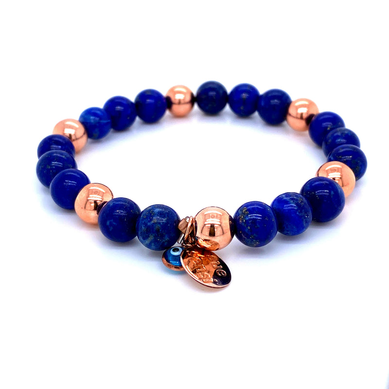 Sue Sensi See You Around Rose Gold and Lapis Lazuri Bracelet