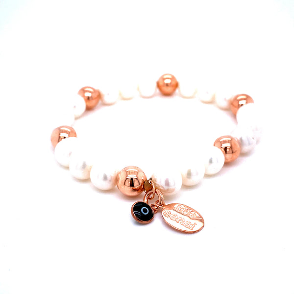Sue Sensi See You Around Rose Gold and Pearl Bracelet