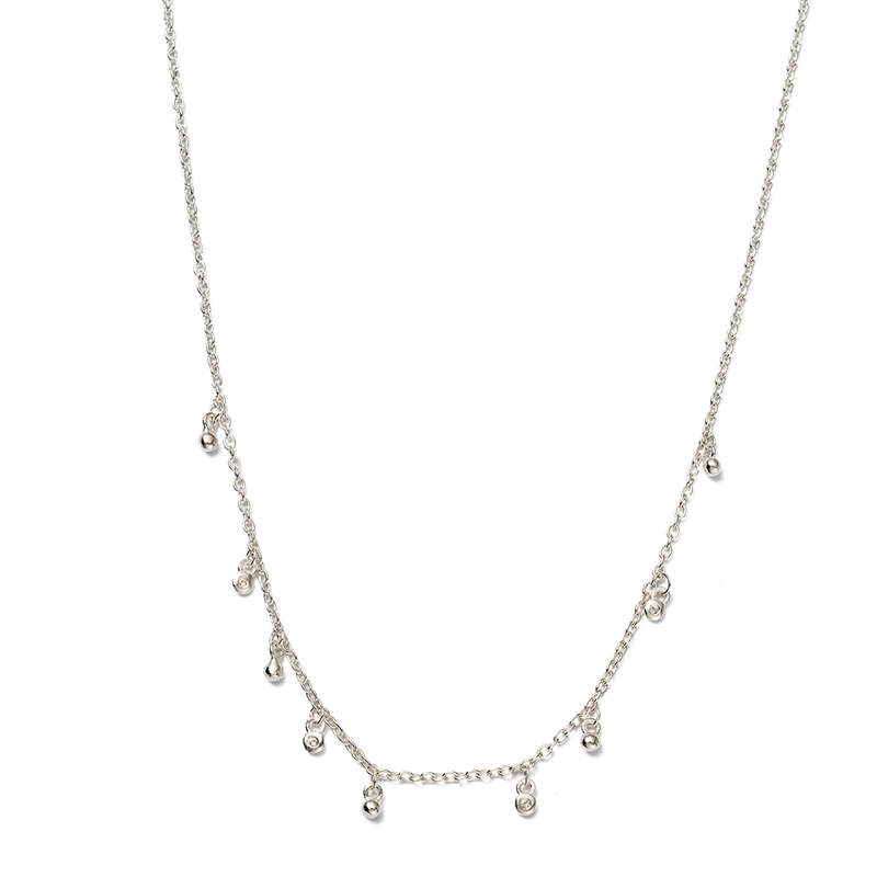 Kirstin Ash Sea Mist Necklace- Sterling Silver