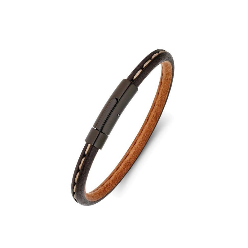 Men's Leather Bangle