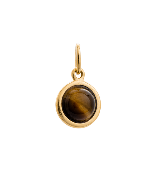 Kirstin Ash Tiger Eye Gemstone- 18k gold vermeil