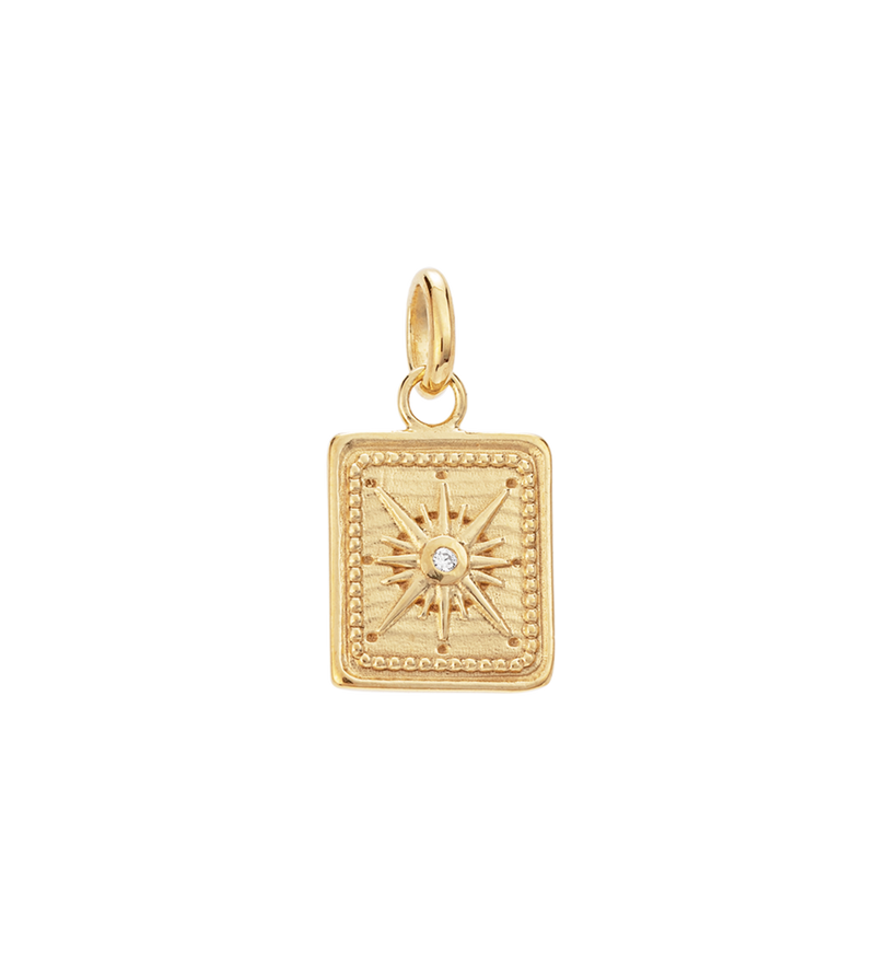 Kirstin Ash Tiny True North Coin- 18k gold vemeil