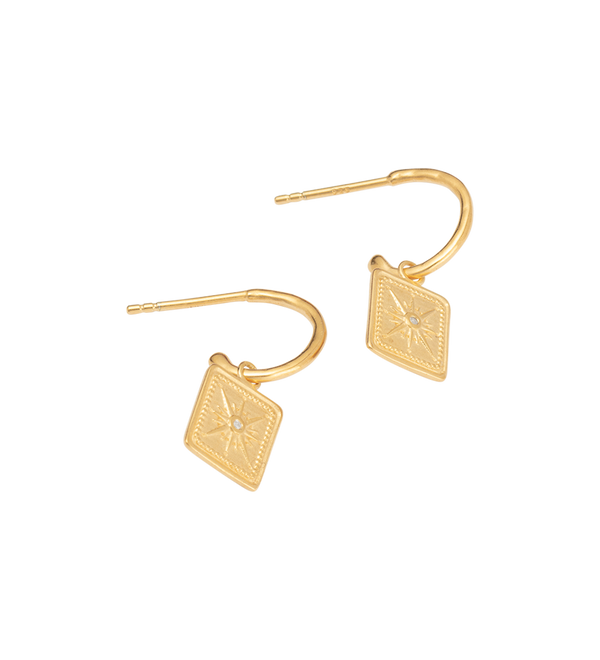 Kirstin Ash True North Hoops- 18k gold vermeil