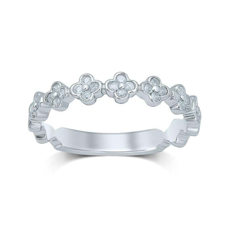 9Ct White Gold 0.252Ct Diamond Ring