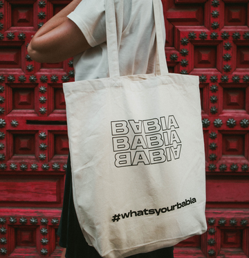 TOTE BAG NATURAL TRIPLE BABIA