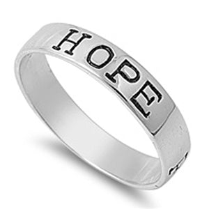 Sterling Silver Faith Love Hope Band Purity Promise Ring Designer 925 Sizes 4-13