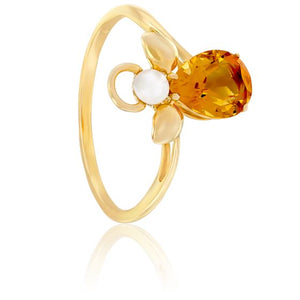 bague or jaune isabel