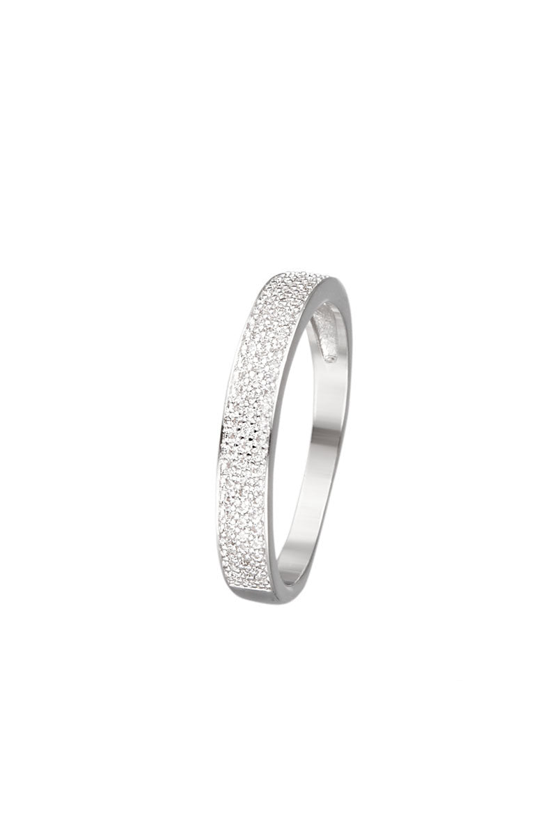 bague swarovski or blanc