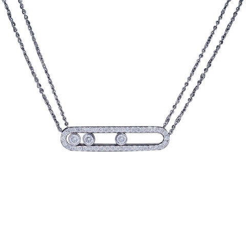 collier argent imitation messika
