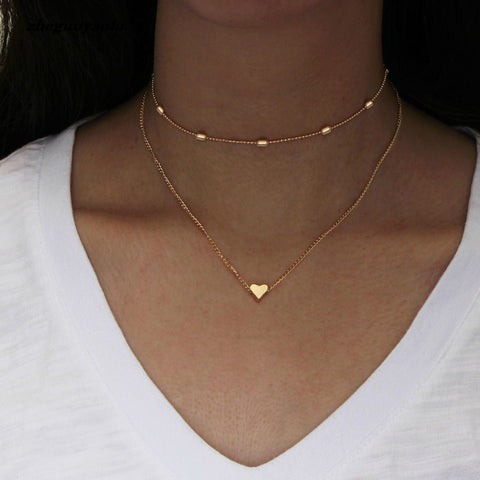 collier femme or simple