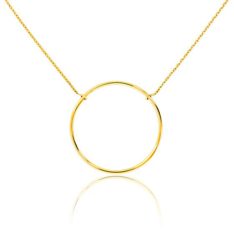 collier or avec cercle