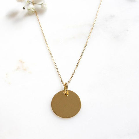 collier or femme rond