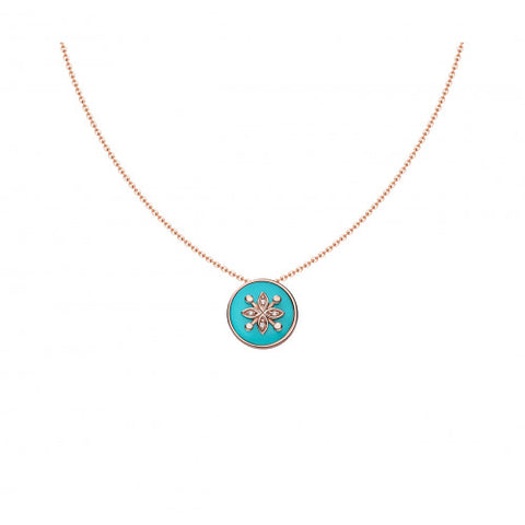 collier or rose turquoise