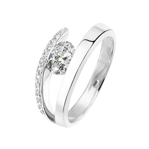 diamant bague or blanc