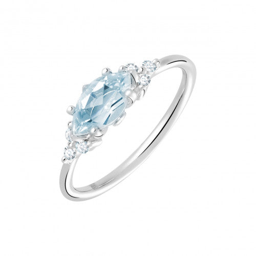 nettoyer bague or blanc aigue marine