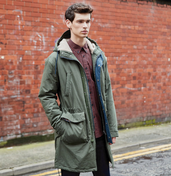 Ben Sherman Fishtail Parka - Khaki