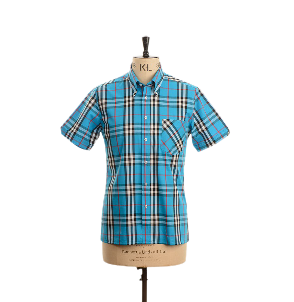 AGC Holt Check Shirt - Maya Blue