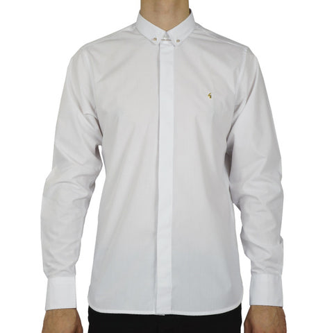 Gabicci Vintage Gold Bar Shirt - White