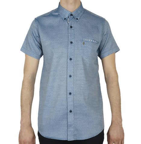 Gabicci Vintage Fleck Shirt - Breeze