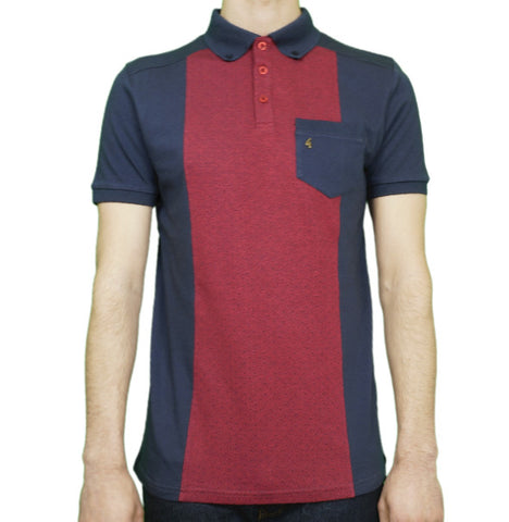 Gabicci Vintage Panel Polo - Navy