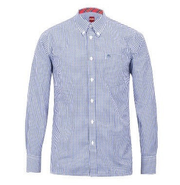 Merc Japster Gingham Shirt - Blue