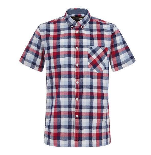 Merc Ashford Check Shirt - Red - Merc - ModWear