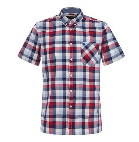 Merc Ashford Check Shirt - Red