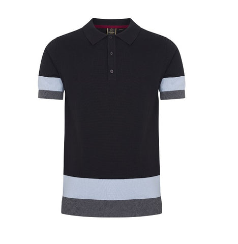 Merc Captain Knitted Polo - Black