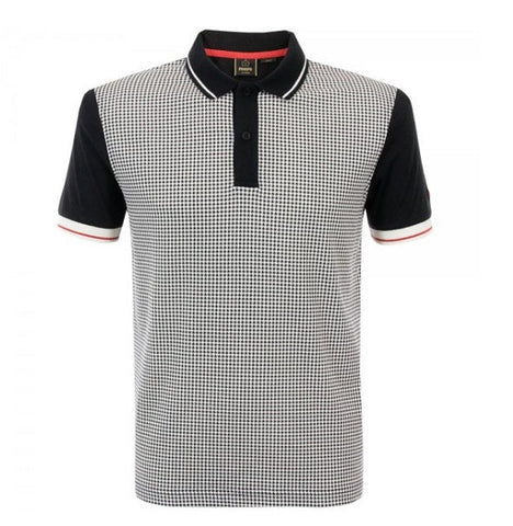 Merc Corona Dogtooth Polo - Black