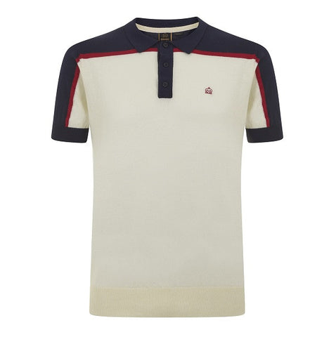 Merc Harum Knitted Polo - Off White