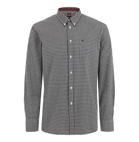 Merc Japster Gingham Shirt - Black