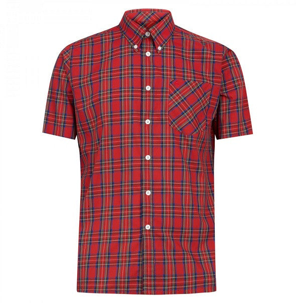 Merc Mack Check Shirt - Red - Merc - ModWear