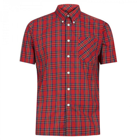 Merc Mack Check Shirt - Red