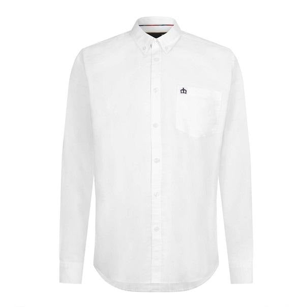Merc Oval Oxford Shirt - White - Merc - ModWear